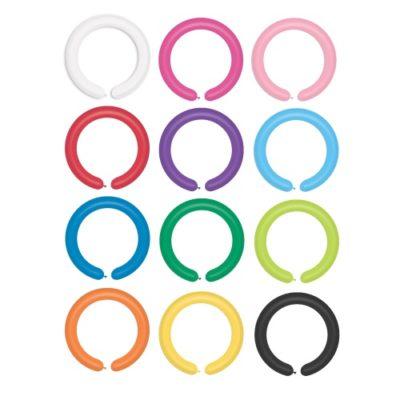 Balony długie rurki do modelowania Gemar 260Q 100szt mix kolorów