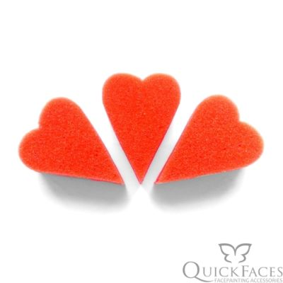Gąbka do malowania twarzy QuickFaces serce