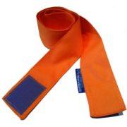Szarfa gimnastyczna szkolna na rzep 120cm 1szt pomarańczowa