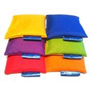 Zestaw woreczków gimnastycznych z grochem 6szt 6 kolorów