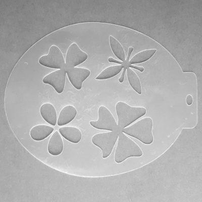 Szablon do malowania twarzy Kwiaty III
