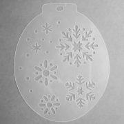 Szablon do malowania twarzy Śnieżynki II