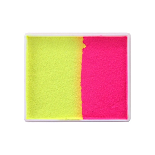 Farby do twarzy PartyXplosion Rainbowcake 50g Dubble colours Neon Yellow Neon Red