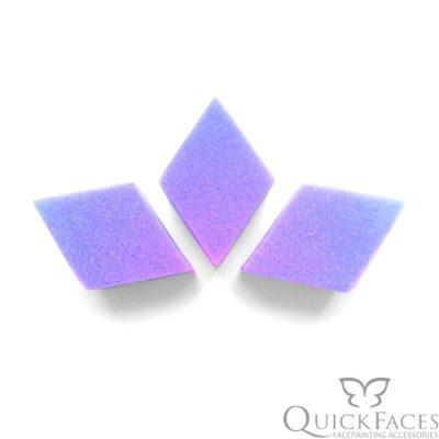 Gąbka do malowania twarzy QuickFaces diament 2szt
