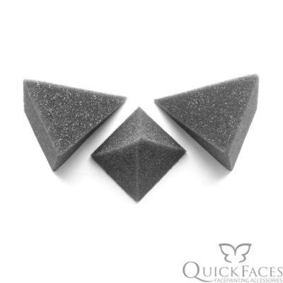 Gąbka do malowania twarzy QuickFaces piramidka 2szt