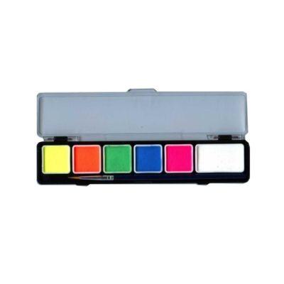 Farby do twarzy PartyXplosion Paletka neonowa 6 kolorów