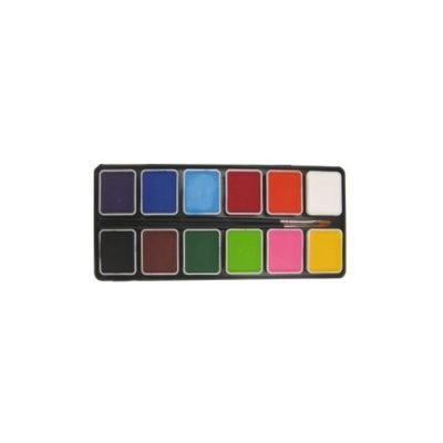 Farby do twarzy PartyXplosion Paletka podstawowa 12 kolorów