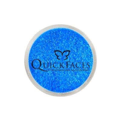 Brokat do twarzy i ciała QuickFaces Neon Blue UV