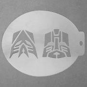 Szablon do malowania twarzy Transformers