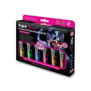 Zestaw neonowych farb do twarzy PaintGlow UV Face&Body Paint Box