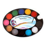 Farby do twarzy PartyXplosion Paletka podstawowa owalna 12 kolorów