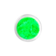 Brokat QuickFaces Chunky Glitter Matte Neon Green