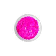 Brokat QuickFaces Chunky Glitter Matte Neon Pink
