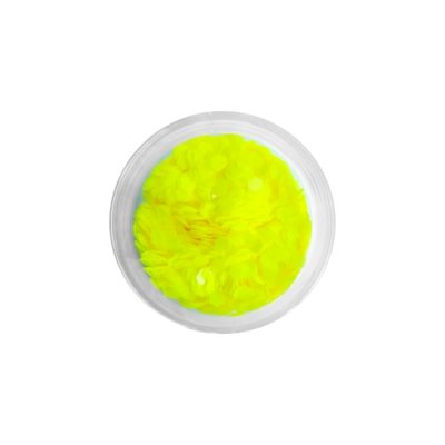 Brokat QuickFaces Chunky Glitter Matte Neon Yellow
