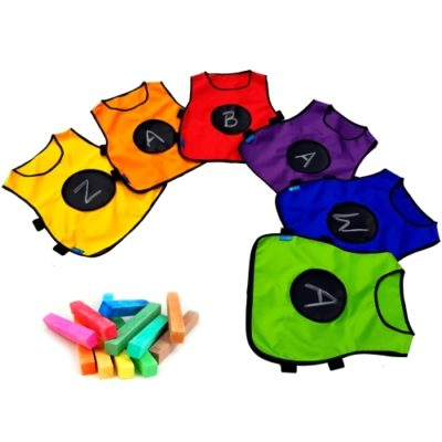 Kredowa kamizelka animacyjna dla dzieci 6szt 6 kolorów