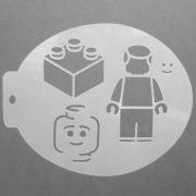 Szablon do malowania twarzy Lego