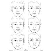 Mata treningowa do malowania twarzy Quick Faces A2 model 016