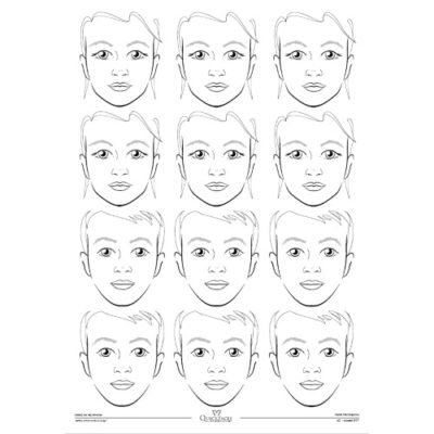 Mata treningowa do malowania twarzy Quick Faces A2 model 017