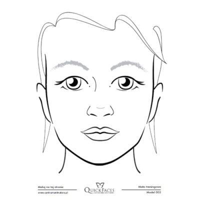 Mata treningowa do malowania twarzy Quick Faces A4 model 003