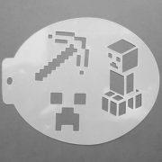 Szablon do malowania twarzy Minecraft
