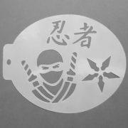 Szablon do malowania twarzy Ninja
