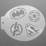 Szablon do malowania twarzy Superheroes II