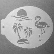 Szablon do malowania twarzy Tropiki