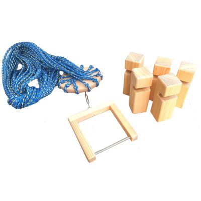 Gra integracyjna drewniana Wieża z klocków