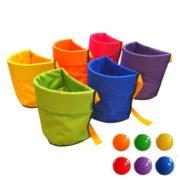 Koszyki animacyjne zestaw 6 kolorów
